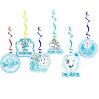 Parti Yıldızı - İlk Dişim Çıktı 6 lı Asma Süs Mavi