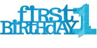 AMSCAN - İlk Doğum Günü Işıltılı Mavi Masa Orta Süsü 35.6x1