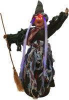 Parti Yıldızı - Işıklı ve Sesli Süpürgeli Cadı 56 CM - ORC