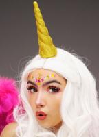 AMSCAN - Işıltılı Unicorn Boynuzlu Renkli Peruk