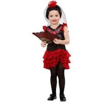 Parti Yıldızı - İspanyol Kostümü ve Çiçekli Duvağı