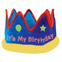 Parti Yıldızı - It s My Birthday Kumaş Taç