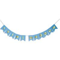 Parti Yıldızı - İyiki Doğdun Banner Mavi Üzeri Gold