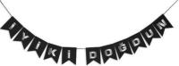 Parti Yıldızı - İyiki Doğdun Banner Siyah Üzeri Gümüş