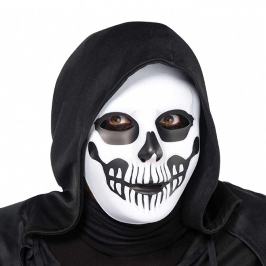 Kafatasi Korku Maskesi Halloween Maske Peruk Ve Makyaj