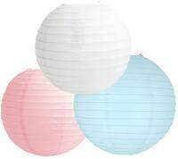 Parti Yıldızı - Kağt Fener Set 3 Adet (Beyaz, Mavi ve Pembe)
