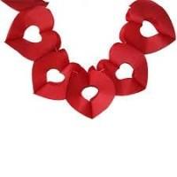 Parti Yıldızı - Kalp Kırmızı Kağıt Garlent