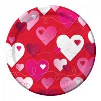 Parti Yıldızı - Kalpler Parti Tabağı 8 Adet