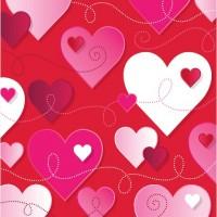 Parti Yıldızı - Kalpler Peçete 16 adet