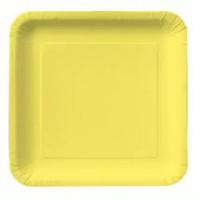 Parti Yıldızı - Kanarya Sarısı Kare Tabak 17 cm 18 ADET