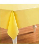 Parti Yıldızı - Kanarya Sarısı peksi Doku Masa Örtüsü