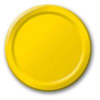 Parti Yıldızı - Kanarya Sarısı Tabak 8 Adet