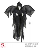 Parti Yıldızı - Kanatlı Siyah İskelet 51 cm Dekor Süs