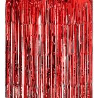 Parti Yıldızı - Kapı Perdesi Kırmızı Renk