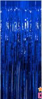 Parti Yıldızı - Kapı Perdesi Koyu Mavi Renk