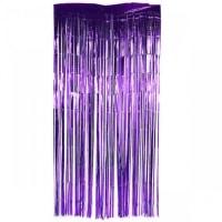 Parti Yıldızı - Kapı Perdesi Lila Renk