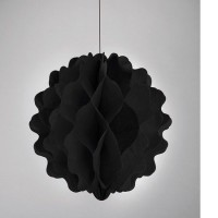 Parti Yıldızı - Karpuz Siyah Asma Süs 20 cm