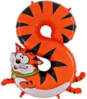 Parti Yıldızı - Kedi 8 Yaş Jumbo folyo Balon