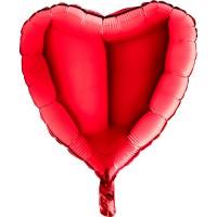 Parti Yıldızı - Kırmızı Kalp Folyo Balon 26