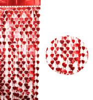 Parti Yıldızı - Kapı Perdesi Kalp Şekilli Kırmızı Renk