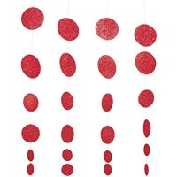 Parti Yıldızı - Kırmızı Pırıltılı Garlent