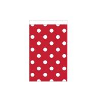 Parti Yıldızı - Kırmızı Puanlı Karton Şeker Poşeti 10 Adet