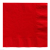 BALONEVI - Kırmızı Renk Peçete 33x33cm