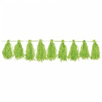 Parti Yıldızı - Kivi Yeşili Püskül Garlent 3 Metre