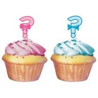 Parti Yıldızı - Kız mı Erkek mi? Cup Cake 12 li Süs