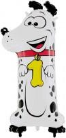 Parti Yıldızı - Köpekli 1 Yaş Jumbo folyo Balon