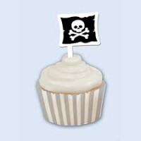 Parti Yıldızı - Korsan Cup Cake 12 li Süs