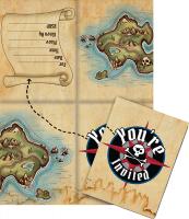 Parti Yıldızı - Korsan Haritası 8 li Davetiye