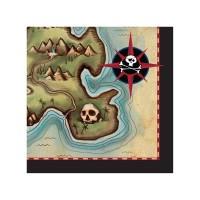 Parti Yıldızı - Korsan Haritası Küçük 16 lı Peçete