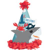 AMSCAN - Korsan Köpekbalığı ve Arkadaşları Partisi Şapka