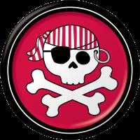 Parti Yıldızı - Korsan Partisi 8 li Küçük Tabak Kırmızı