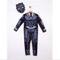 Parti Yıldızı - Kostüm Black Panther Kaslı 4-6 Yaş