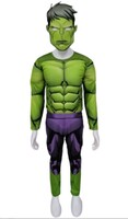 Parti Yıldızı - Kostüm Hulk Kaslı 7-9 Yaş