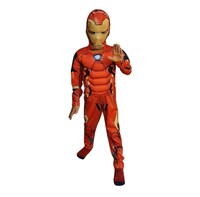 Parti Yıldızı - Kostüm IronMan Kaslı 4-6 Yaş