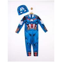 Parti Yıldızı - Kostüm Kaptan Amerika Kaslı 7-9 Yaş