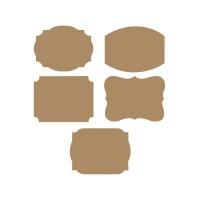 Parti Yıldızı - Kraft Kişiye Özel Etiketi 10 adet