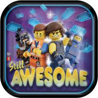 AMSCAN - Lego Movie Partisi Küçük Tabak 8 Adet