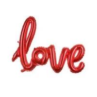 Parti Yıldızı - Love El Yazısı Kırmızı