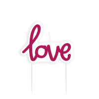 AMSCAN - Love Elyazısı Mum