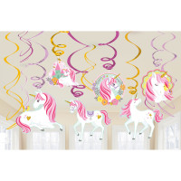 AMSCAN - Magical Unicorn Dalga Süs 12 Adet