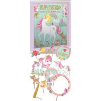 AMSCAN - Magical Unicorn Dekor Kiti 17 Parça