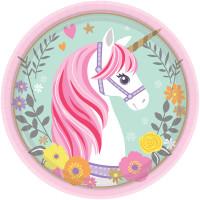 AMSCAN - Magical Unicorn Küçük Tabak 8 Adet