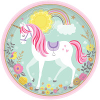 AMSCAN - Magical Unicorn Tabak 8 Adet
