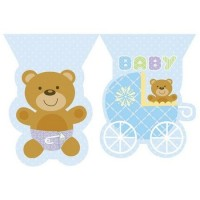 Parti Yıldızı - Mavi Bebek Ayıcık Bayrak Afiş