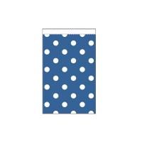 Parti Yıldızı - Mavi Puanlı Karton Şeker Poşeti 20 Adet
