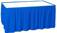 AMSCAN - Mavi Renk Plastik Masa Eteği 426x73cm